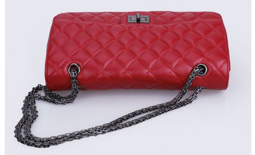 Vivilli Check Pattern Chain Strap Shoulder Bag 36