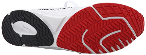 Puma Mens Bmw Ms Pitlane Nightcat Lace-up Fashion Sneaker Bianco / Rosso Ad Alto Rischio