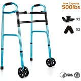Amazon Com Xrx Rollator Walkers For Seniors With Arm Support Folding Slides Rolling Ultra