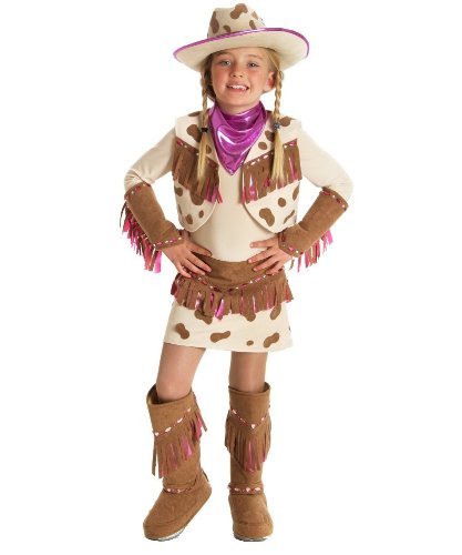 Princess Paradise girls Big Girls' Rhinestone Cowgirl Costume Small (5-6) - Ice Cream Sandwich Kids Costumes