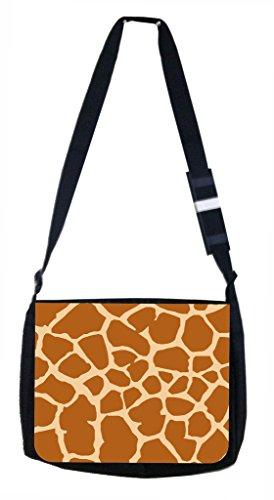 Giraffe Print Lea Elliot TM School Messenger Bag and Pencil Case SET
