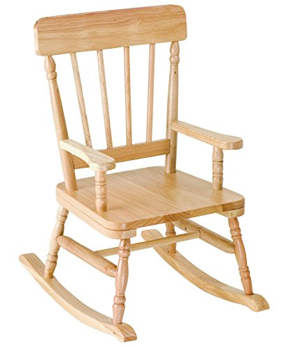 Wildkin Rocking Chair, Features Classic Rocker Design and Durable Wood Construction, Measures 23 x 17.5 x 29 Inches – Oak Finish