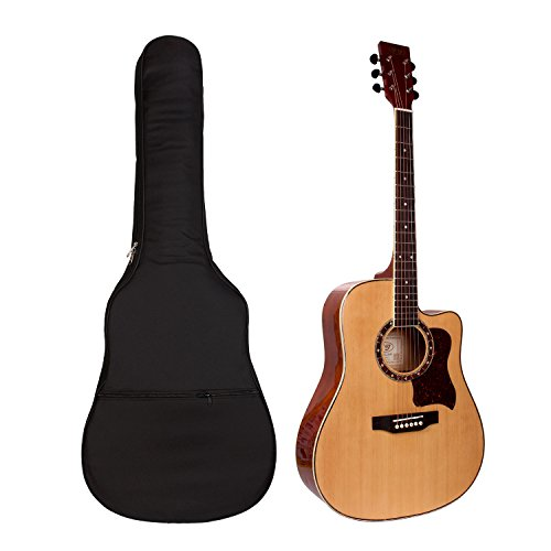 Guitar Bag,41 Inch Acoustic Guitar Gig Bag Soft Case Cover 5mm Interior Sponge Padded Black