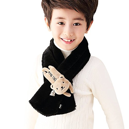 Rancco Unisex Kid Warm Neck Scarves, Winter Windproof Neck Warmer Soft Furry Loop - Bk 4 Cashmere