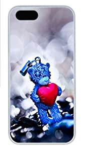 Apple iPhone 5S Case and Cover - Love Struck 1 Custom Polycarbonate Case Cover Compatible with iPhone 5S and iPhone 5 - White