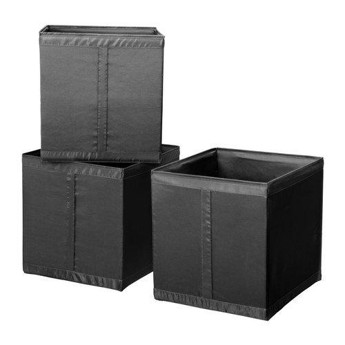 Ikea Storage Box Bin Black Skubb (3 Pack)