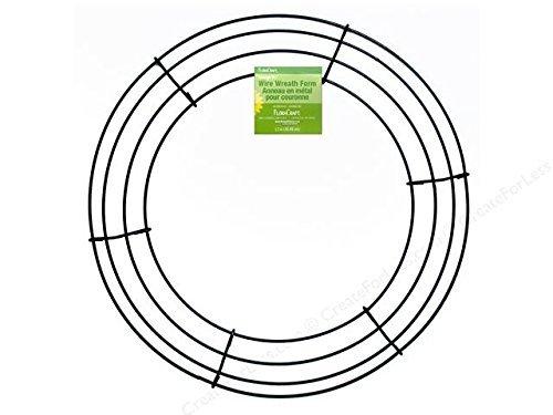 Floral Garden Metal Wreath Ring 12