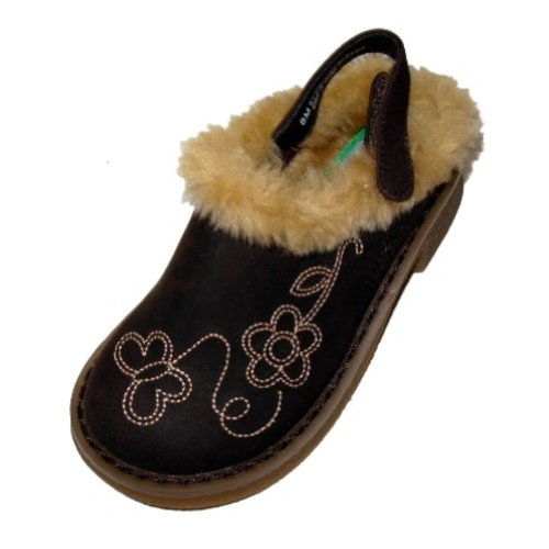 Carter's Toddler Girls Brown Fur Trimmed Clogs Dress Shoes ()