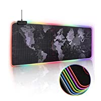 Skeido Gaming Mouse Pad RGB Large Mouse Pad Gamer Big Mouse Mat Computer Mousepad Led Backlight