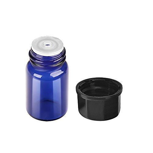 b9f7fcc01cb5 30 pack 2 ml 5/8 Dram Blue Mini Glass Dram Bottles Sample Bottles ...
