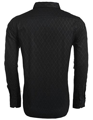 13161d118e04 COOFANDY Men s Business Dress Shirt Long Sleeve Slim Fit Casual Button Down  Shirt