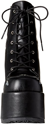 CAMEL slv Demonia Leather 201 Hologram Vegan Blk UdqtxzOZq