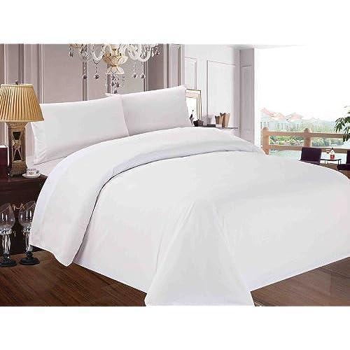 White Bedding Amazon Com