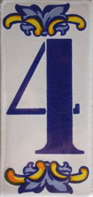 - Fine Crafts Imports Villa Mexican Tile House Number Four