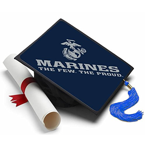 Marine Corps Decorations (Tassel Toppers Marine Corps - Graduation Caps for Future Marines - Semper Fi - Decorated Grad Caps (The Few The Proud))