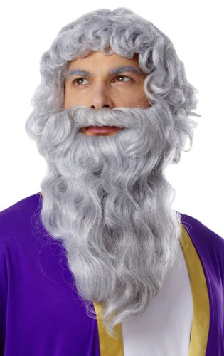Biblical Moses Long Grey Wig & Beard