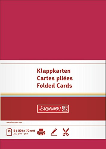Baier Schneider &Letter Cards/Folding Cards/Business Cards Blank Double Cards 105 x 148 MM 200 g/M ² Pack of 1 (Letter Folding Business)