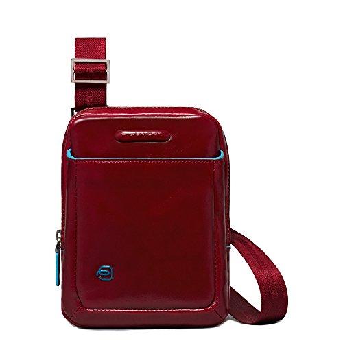 Piquadro CA3084B2 Borsello, Collezione Blu Square, Rosso