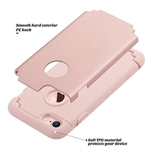 Caso del iPhone 7 ,4.7 pulgadas, Ulak iPhone 7 Funda Case doble capa lisa de TPU + PC Impacto híbrido Caso absorción de choque cubierta de la protección de la gota para el iPhone 7 4.7 pulgadas (2016)