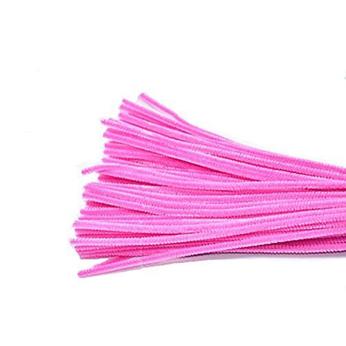 Freedi 95Pcs Pipe Cleaners Chenille Stem Creativity for Classroom Craft DIY Art Supplies 6mm (Pink)