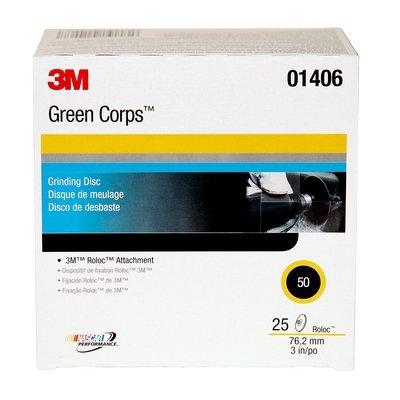 3M Green Corps Roloc Disc 264F, Aluminum Oxide, 3