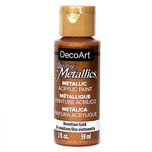 (DecoArt Dazzling Metallics 2-Ounce Venetian Gold Acrylic Paint )