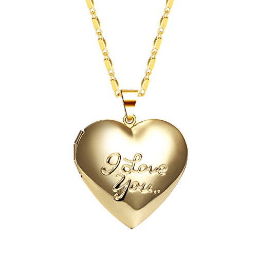 IFFURMON Gold Plated Necklace Engraved