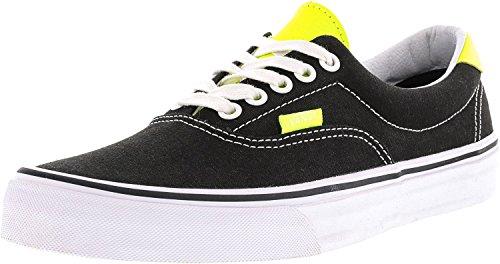 Vans Herren Sneaker Leather Era 59 Sneakers (neon leather) black/neon