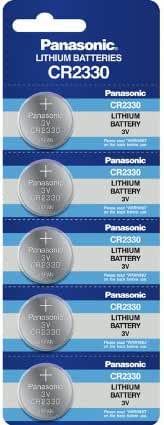 Panasonic CR2330 3V Lithium Cell Battery (5pcs per Pack)