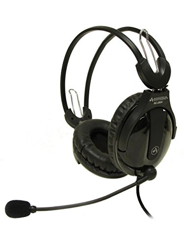 Andrea Electronics C1-1025200-1 model NC-250V Circumaural Stereo PC Headset with Andrea's Noise Cancellation Microphone Technology with Highest Voice Recognition Industry Rating; Large Circumaural ear cups with plush leather-type ear cushions - 1 C1