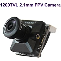 FPV Camera 1200TVL 2.1mm Lens 1/3 CMOS Camera NTSC FOV 150 Degree IR Block with OSD Super Backlight Black for FPV Quadcopter Racing Drone