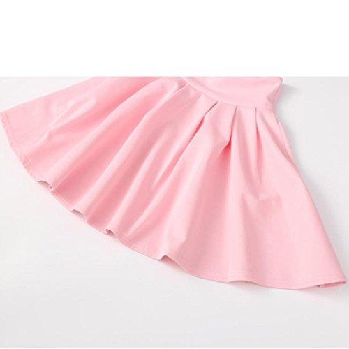 Jupe Taille HCFKJ Mini Slim Cocktail 2018 Party Solide Casual Ladies Chic Style Rtro Skirt Minijupe Jupes Femmes Occasionnel Femmes Rose plisse Skater Haute FxOqF8p