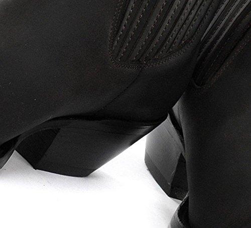 Grinders Hommes Mustang Noir Style Biker Cowboy Bottes occidentaux Western Bottes en cuir