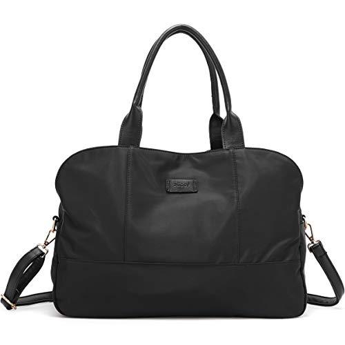 ZOCAI Handbag for Women Tote Bag Casual Weekender Bag Overnight Carry On Shoulder Bag for Travel Work Gym (Black)]()