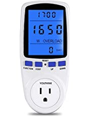 Power Meter Plug, MIXJOY Electricity Usage Monitor Watt Volt Amps KWH Consumption Analyzer with Digital LCD Display Overload Protection and 7 Display Modes for Energy Saving