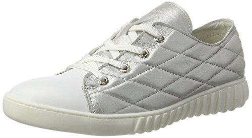 Marc Shoes Fabiola, Zapatos de Cordones Derby para Mujer Weiß (Metal-White 222)