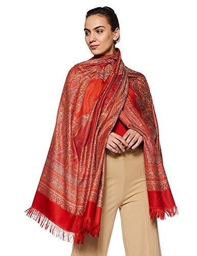 Weavers Villa Women's Pashmina Wool Blend Indian Handicraft Woven Shawls, Scarf, Wraps [Large Size: 40
