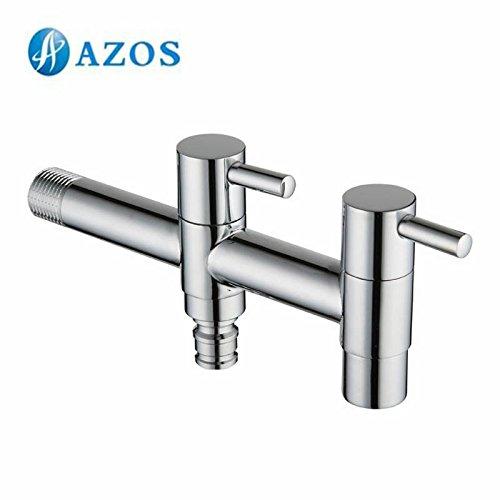 AZOS Utility Mop bibcock lavaggio machion rubinetto singolo freddo da parete da giardino per lavabo rubinetto pjtb013 –  2 AZOS Ltd
