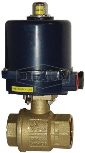 NEMA 4 1 1 12 VDC Dixon BV2BV-10011-ET Electric Actuated FNPT Ball Valve with Heat