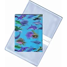 Lenticular Business Card Holder with two pockets: Size 3x4-1/4 closed, , BLUE