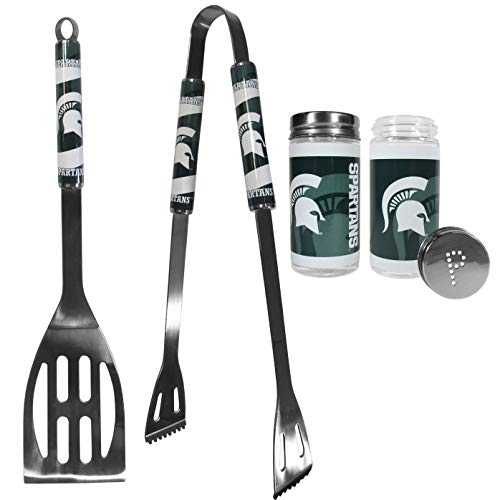 - NCAA Michigan State Spartans 2pc BBQ Set with Tailgate Salt & Pepper Shakers
