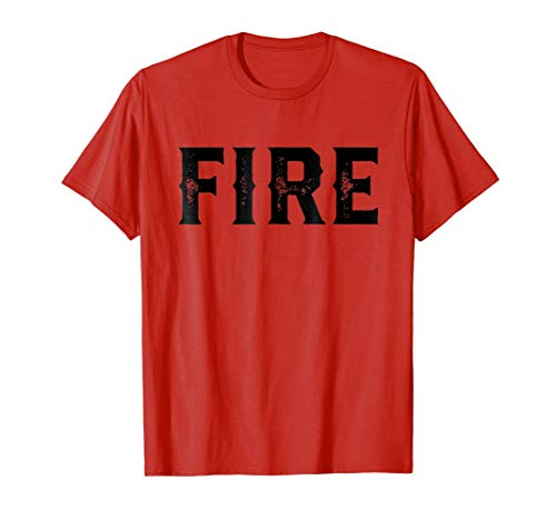 Firefighter Costume T-Shirt Easy Halloween