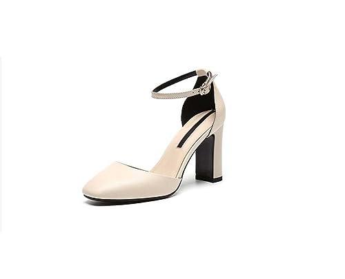 Nuevo Coreana Del Verano Versión Vendaje Cuero Zapatos De Mujer HxWqOf