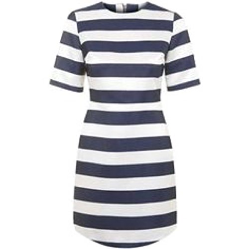 Topshop Womens Twill And Satin Stripe A-line Mini Dress, used for sale  Delivered anywhere in USA