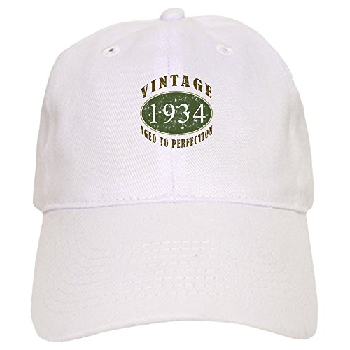 CafePress - Vintage 1934 Birthday (Green) Cap - Baseball Cap with Adjustable Closure, Unique Printed Baseball Hat
