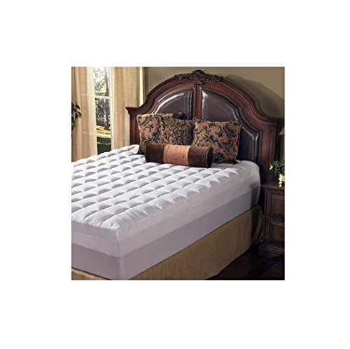 Grande Hotel Collection 4.5 Inch Memory Foam and Fiber Mattress Topper, Size Queen