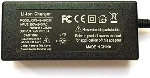 42V 2A Chargeur de Batterie pour Deux Roues Mini Smart Scooter électrique Gyropode REVOE, Balance Monocycle Skateboard Adaptateur d'alimentation utilisé pour Charger 36V Lithium ION Battery Pack