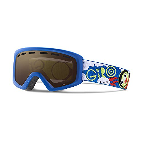 Giro Rev Kids Snow Goggles Blue/Lime Space - Amber Rose