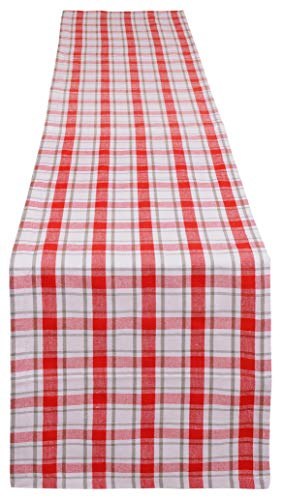 Yourtablecloth Buffalo Plaid Checkered Table Runner Trendy & Modern Plaid Design 100% Cotton Tablerunner Elegant Décor for Indoor&Outdoor Events 14 x 72 Red -