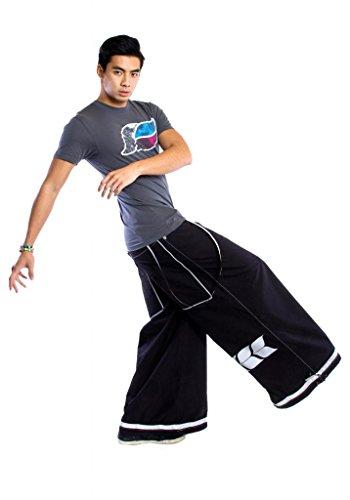 "Kikwear Men's 38"" Extreme Rave Pants 28 Black"